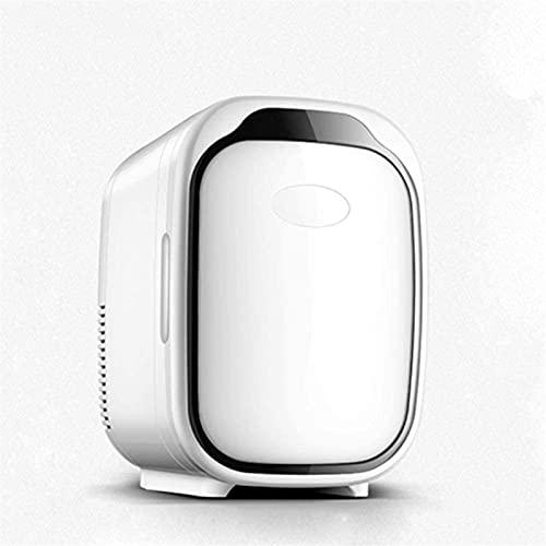 XTZJ Mini refrigerador, 6 litros más caliente portátil, refrigerador, refrigerador de cuidado de la piel, refrigerador compacto, nevera de belleza ligera, para dormitorio, oficina de coches para coche