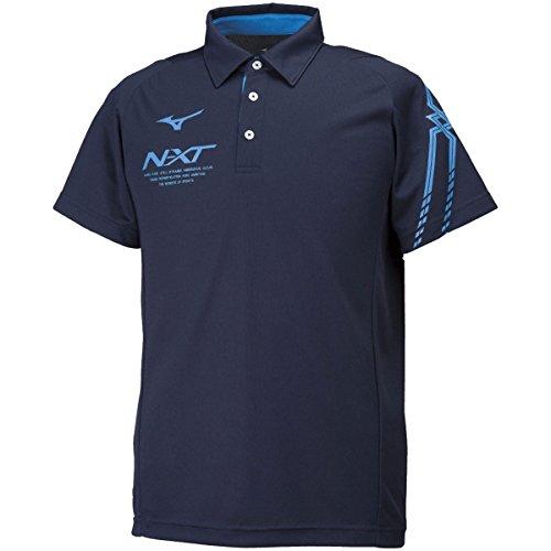 [ミズノ] トレーニングウェア 半袖ポロシャツ N-XT 吸汗速乾 ドライ スリム 細身 男女兼用 32JA8080 ディー...