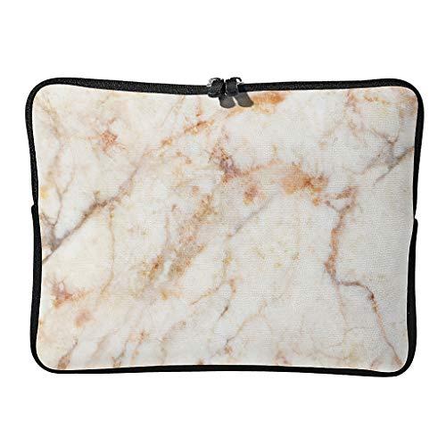 Bolsillos para portátil con textura de mármol normal, gráficos duraderos, bolsillos para tabletas, adecuados para viajes de negocios.