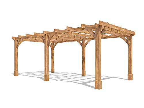 Dunster House Wooden Pergola Garden Canopy Shade Furniture Kit Atlas 6m x 3m