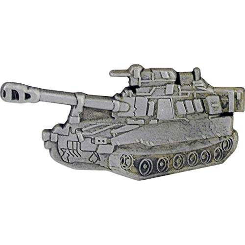 """MILITARY WEAPONS & TRANSPORTATION, TANK HOWITZER - Artwork, Expertly Designed PIN - 1.375"""""""