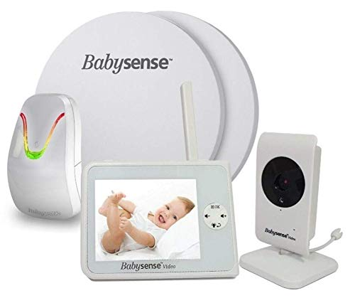 BABYSENSE SET Babyphone mit Sensormatten und Kamera: Babysense Video V35 Babyphone + Bewegung & Atmungsüberwachung. Kompletter Set zur Überwachung Ihres Kindes