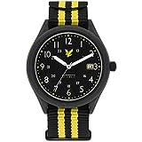 LYLE & SCOTT Stealth Herren Armbanduhr 42mm Armband Nylon Automatik LS 6006 01