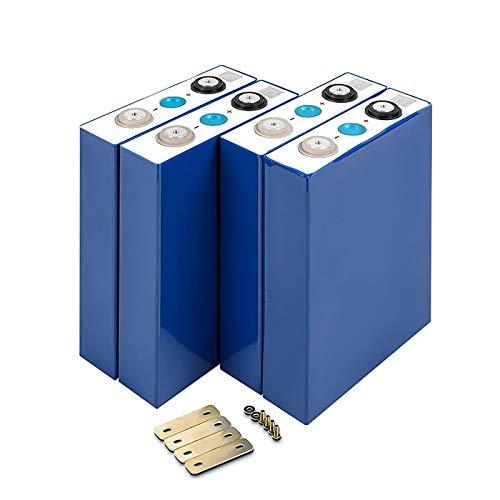 QMRePow 4pcs 100Ah 3.2V LIFEPO4 Batería de Hierro de Litio Células fosfato 12V 24V 48V 100V Baterías for Solar EV RV Pack EU EU EE. UU.