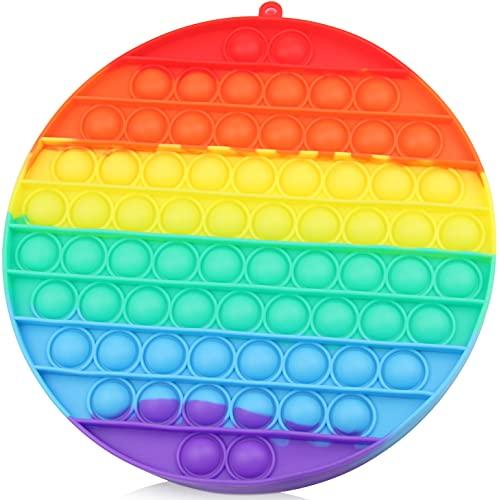 Push Pop XXL Anti-Stress Spielzeug, Großes Fidget Toy für Kinder und Erwachsene, Übergröße Gadget Bubble Sensory Toy, Kreis