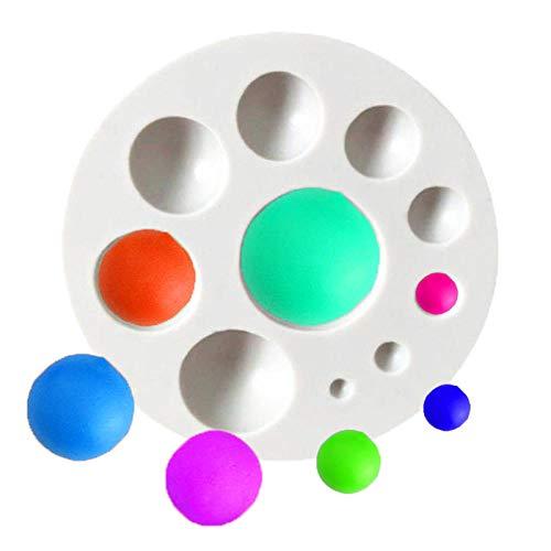 3D Perle Dot Gem Silicone Fondant Moules Gâteau Décoration Outils De Cuisson pour DIY Sucre Artisanat Bonbons Chocolat Glace Cube Plateau Savon-2 pcs 6.5 * 1.5 cm-Gris