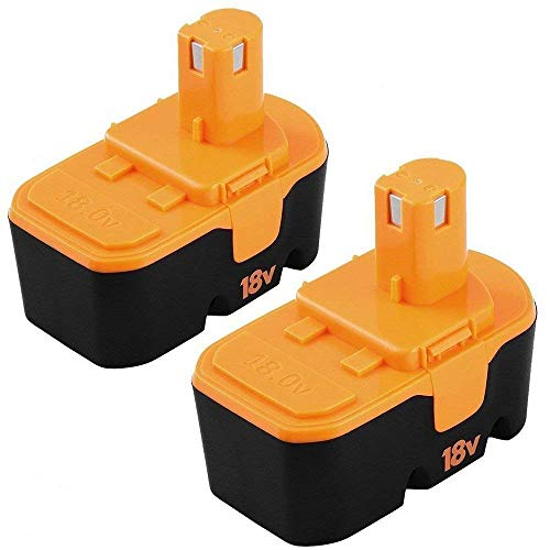 [Upgraded] 3600mAh Ni-Mh Replacement for Ryobi 18V Battery One+ P100 P101 ABP1801 ABP1803 BPP1820 2 Packs