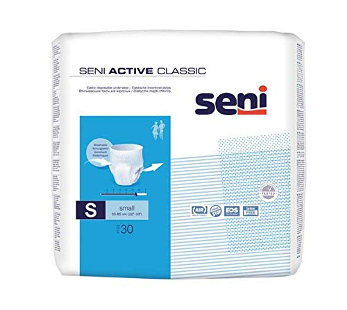 Seni Active Classic Small - Pants - Windelhose - Windel Hose für Erwachene - Kleinpackung - Test - Probe - 4 Stück - Teilmenge aus PZN 13330420