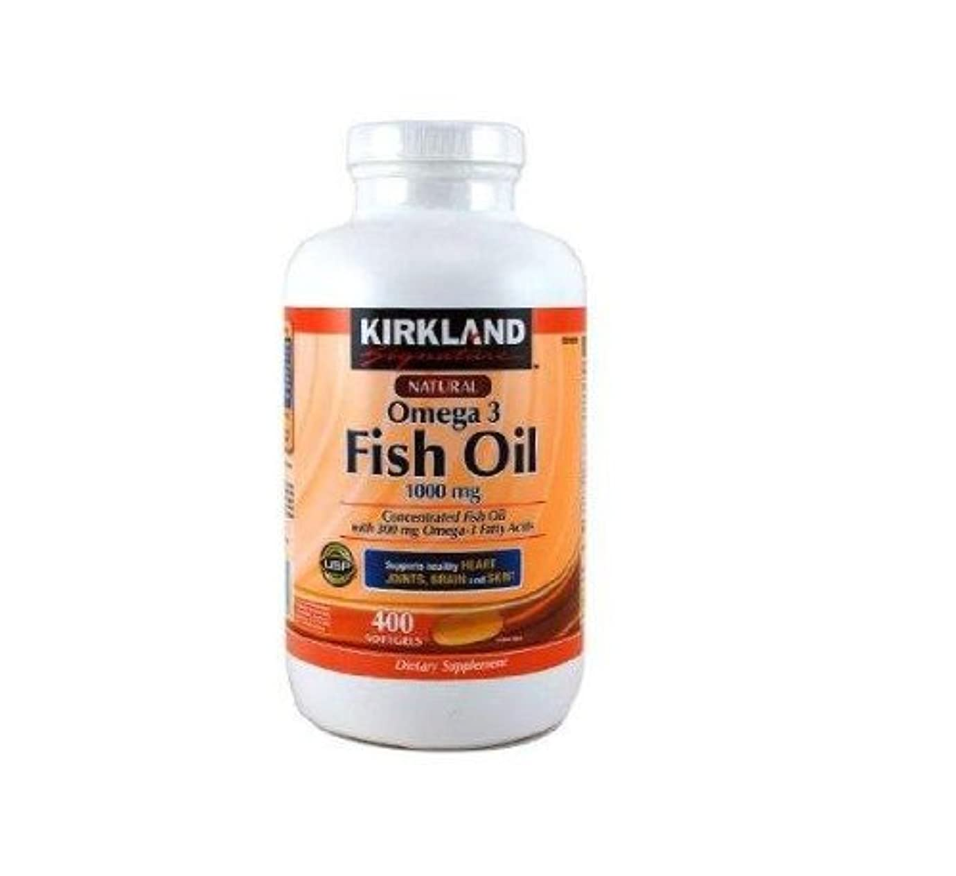 有毒チーム怪物KIRKLAND社 フィッシュオイル (DHA+EPA) オメガ3 1000mg 400ソフトカプセル 2本 [並行輸入品] [海外直送品] Two KIRKLAND's Fish oil (DHA + EPA) omega-3 1000mg 400 soft capsules [parallel import goods] [overseas direct shipment product]