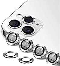 [6 Pack] YWXTW Camera Lens Protector Compatible with iPhone 12 Pro Max 6.7 inch, [Installation Tray] Aluminum Alloy Tempered Glass Camera Circle Cover (Silver)