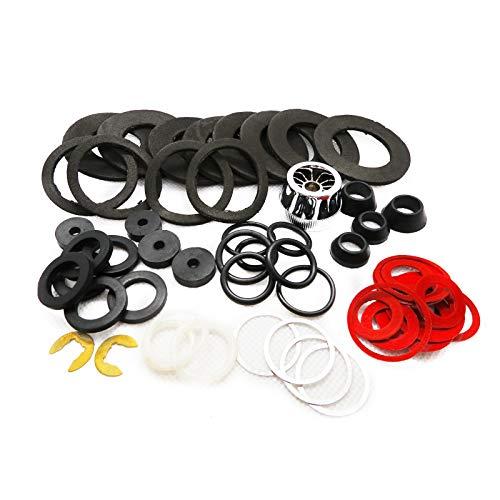 Dichtungsringe Set Dichtungssatz O-Ring Gummidichtung Fiberringe O-Ringe - für die Anwendung im Sanitärbereich Sortiment 55tlg.