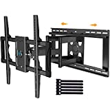 Sliding TV Mount Full Motion for TV Centering - Fits 37-75 Inch Flat Curved TVs up to 132 lbs, Max VESA 600x400mm - Universal TV Mount Fits 16-24 Studs or Spacing, Extends 23.82 Inch by PERLESMITH