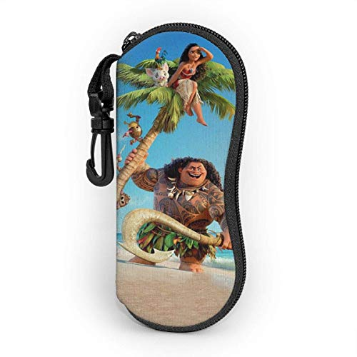 Moana Eyeglass Case, Portable Travel Zipper Sunglasses Case Glasses Bag Guard Set