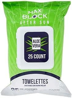 Max Block After Sun Aloe Vera Towelettes, 25 ct.