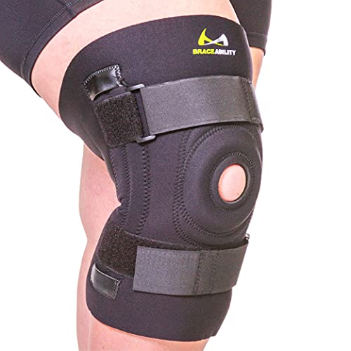 BraceAbility Knee Brace for Large Legs and Bigger People with Wide Thighs - Kneecap Protection Pad Treats Patellar Tendonitis, Chondromalacia, Patellofemoral Pain, Instability and Dislocation (4XL)