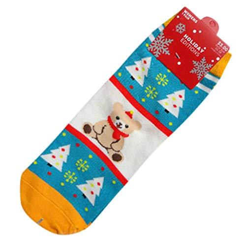 ZEELIY Frauen-Schneemann-Weihnachtsbaumwollsocken-Mädchen-Winter-Ausgangssocken-Bett-Socken-mittlere Socken Weihnachten Deko Weihnachten Geschenk