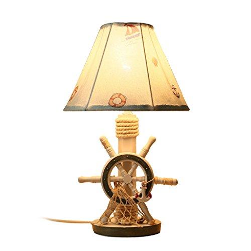 Fu Man Li Trading Company Lampe de table aux enfants méditerranéenne chambre à coucher lit bébé mignon dessin animé éclairage créatif A+