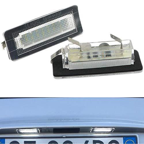 PolarLander 2Pcs 18SMD LED Numero di Targa Luce Errore Lampada Gratuita per Smart Fortwo Coupe Convertible 450 451 W450 W453