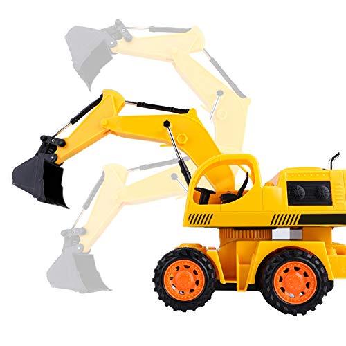 RC Auto kaufen Baufahrzeug Bild 3: Dilwe RC Bagger, 5CH Full Functional Fernbedienung Bagger Baufahrzeug Bagger Traktor*