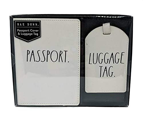 Rae Dunn Passport Cover Holder and Luggage Tag Boxed Gift Set (Passport/Luggage Tag) -  Rae Dunn by Magenta