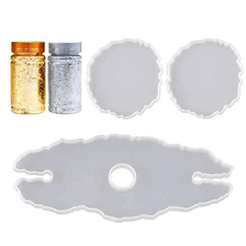 KunmniZ Juego de 5 moldes de resina epoxi hechos a mano, para guardar botellas de cristal, de resina, para Pascua