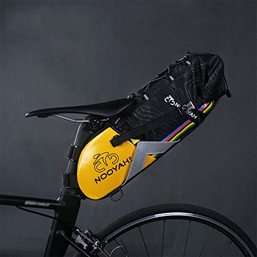 Grande Capacité Sacoche Triangle,Imperméable Sacoche De Vélo,Portable 6L-10L Vélo Cadre Guidon pour Voitures De Route Matériel De Cyclisme Noir 50x21x16cm(20x8x6inch)