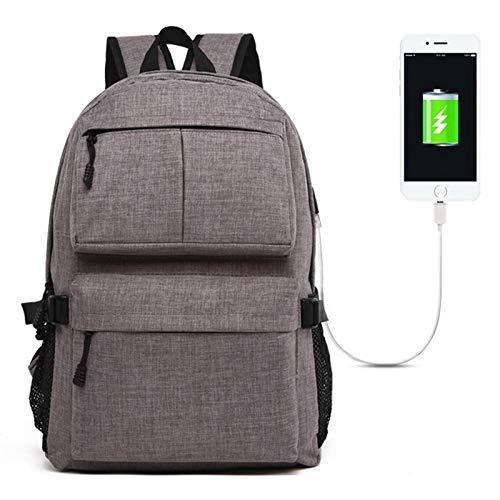 ZTH múltiples funciones universal de tela Oxford hombros bolsa de ordenador portátil mochila con USB Puerto de carga externa, Tamaño: 46x32x12cm, for 15.6 pulgadas y MacBook A continuación, Samsung, L