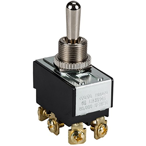 Heavy Duty Bat Handle Momentary Toggle Switch - DPDT / (On) - Off - (On) : 30-050 Dpdt Momentary Switch Type