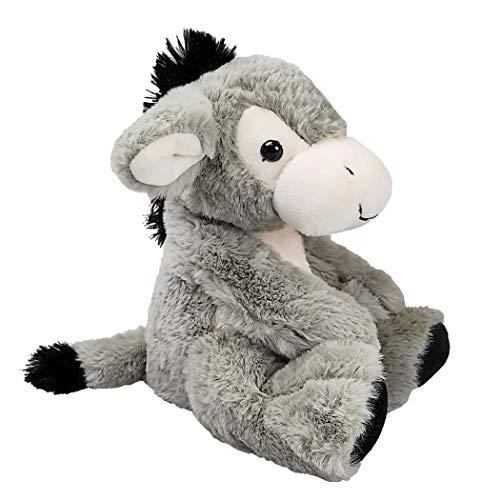 Inware 7145 - Kuscheltier Esel Eddy, grau, sitzend