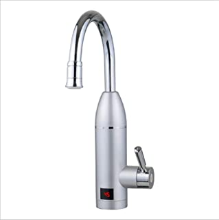 220V Electric Water Heater Faucet rotatable Bathroom Kitchen Heating tap Faucet tankless Electric Water Heater Faucet with LED Digital Display B.