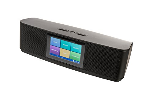Xoro HMT 200 Internetradio (10,16 cm (4 Zoll) Multitouch Display, 2x 8 Watt, Mediaplayer, WLAN, Bluetooth, Spotify, Deezer) schwarz