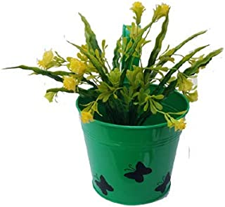 Royal Baskets 3 Butterfly Round Railing Planter / Plant pots (Green, Pack of 1)…
