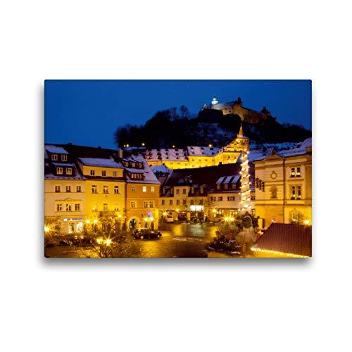 Premium Textil-Leinwand 45 x 30 cm Quer-Format Kulmbach im Advent | Wandbild, HD-Bild auf Keilrahmen, Fertigbild auf hochwertigem Vlies, Leinwanddruck von Karin Dietzel