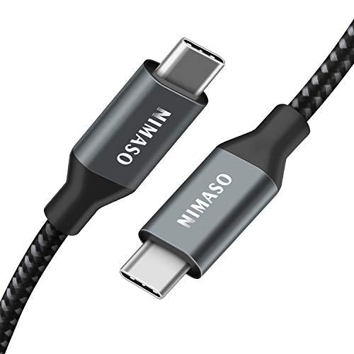 Nimaso USB C/Type C to Type C ケーブル 【PD対応 100W/5A急速充電 2m】 MacBook Pro、iPad、Matebook、Xperia、Galaxy等Type-c機種対応