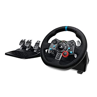Logitech G29 Driving Force Racing Wheel and Floor Pedals, Real Force Feedback, Stainless Steel Paddle Shifters, Leather Steering Wheel Cover, Adjustable Floor Pedals, UK-Plug, PS4/PS3/PC/Mac – Black (B00YUOVBZK) | Amazon price tracker / tracking, Amazon price history charts, Amazon price watches, Amazon price drop alerts