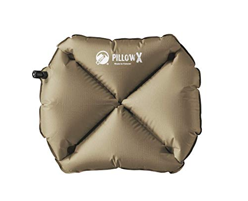 Klymit Pillow X Inflatable Camping & Travel Pillow, RECON Coyote-Sand