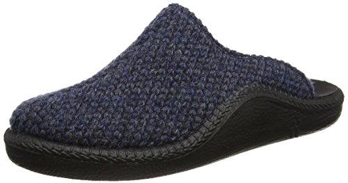 Romika Herren Mokasso 233 Pantoffeln, Blau (Blau-Kombi 501 501), 45 EU