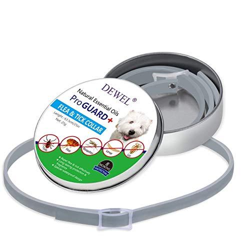 Ducomi ProGuard - Collare Antiparassitario per Cane Taglia Piccola Media e Grande - Antipulci Regolabile Fino a 63,5 cm - Collare Impermeabile Contro Pulci e Zecche - Protezione Preventiva 8 Mesi