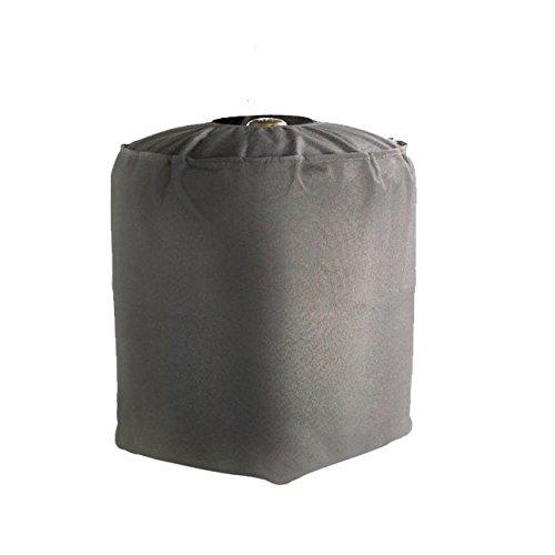 GREEN CLUB Housse De Protection imperméable Bouteille de gaz Haute Qualité Polyester doublée PVC L 35 x l 35 x h 40 cm Couleur Anthracite