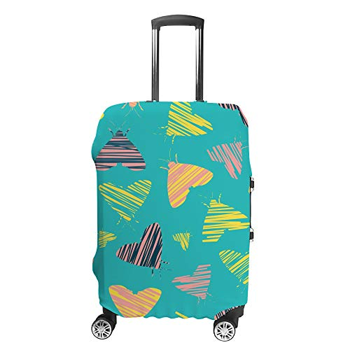 CHEHONG Suitcase Cover Luggage Cover Blue Moths Shape Abstract Travel Trolley Case Protective Washable Polyester Fiber Elastic Dustproof Fits 29-32 Inch