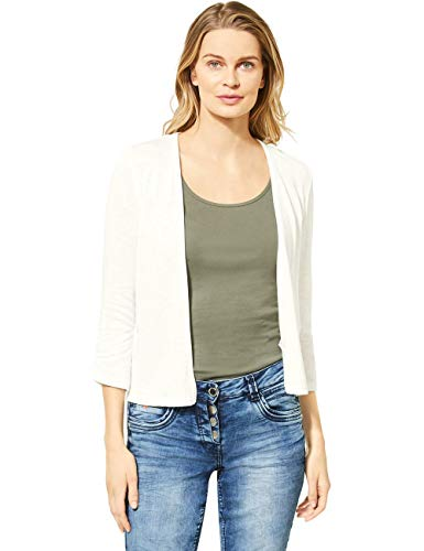 Cecil Damen 314841 T-Shirtjacket Strickjacke, White, XX-Large