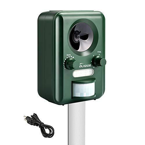 VOLADOR Repellente per Gatti, Deterrente Gatti Ultrasuoni, Impermeabile Solar& USB Animale Repeller...