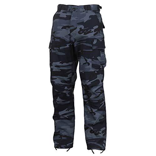 Rothco Camo Tactical BDU (Battle Dress Uniform) Military Cargo Pants, Midnight Blue Camo, L