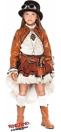 Fancy Me Italian Made Deluxe Kinder Viktorianisch Steampunk Halloween Kostüm Kleid Outfit Plus Zubehör 3-10 Jahre - Mädchen, 4 Years