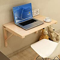 無垢材壁掛けテーブル折りたたみテーブルダイニングテーブルドロップリーフテーブル壁掛けコンピューターテーブルデスクウォールテーブルスタディテーブルダブルサポートサイドテーブル