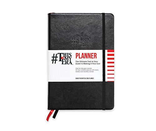 This Is My Era A5 Planner Undated - Daily, Weekly and Monthly Time Management Organiser Notebook To Increase Productivity | Leather Hardcover, Motivational Quotes, 90 Day Diary Planner (Black, 1 Pack)