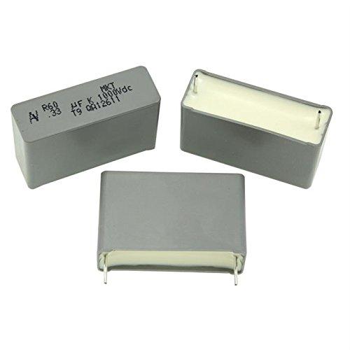 5x MKT-Condensatore rad. 0,33µF 1000V DC ; 27,5mm ; R60QR3330AA40K ; 330nF