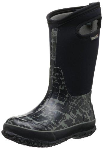 Bogs Girls Wellington Boots Insulated Size UK 6-2 Classic Tuscany Black 52502-UK 12 (EU 30)