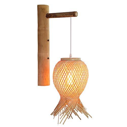 Sala de estar tienda de té dormitorio lámparas de pared sala de té arte de la pared de la pared de bambú