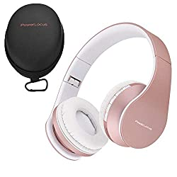 commercial PowerLocus wireless foldable Bluetooth stereo headphones, integrated wired headset … wireless foldable headphones